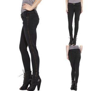 Current/Elliott Jeans Side ZIP Crop Black 26 $207
